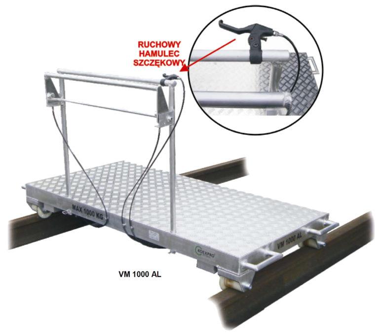 Wózek manipulacyjny VM 1000 AL A i jego odmiany